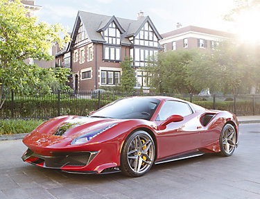 Paint protection film protects exterior of red Ferrari