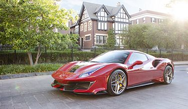 Paint Protection Film gives extra glossy finish to red Ferrari