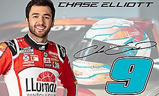 Chase Elliott no. 9 LLumar car driver
