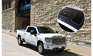 Black PPF accents on white truck
