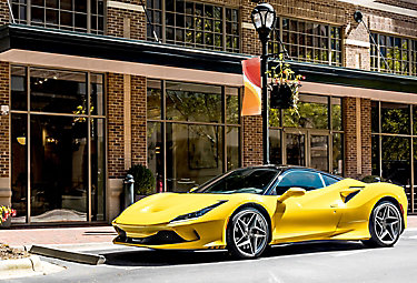 Automotive film on yellow sports car