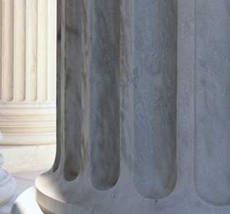 Columns of government building