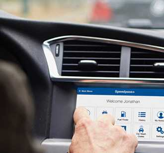 Using touchscreen in a car