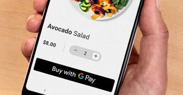 Google Pay interface on mobile