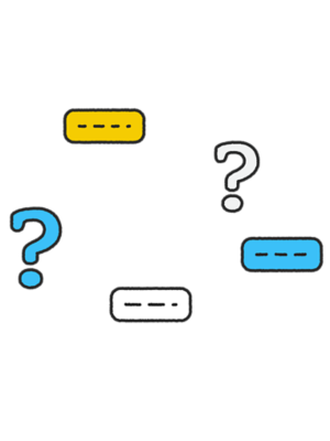 Illustration of chat icons and question marks