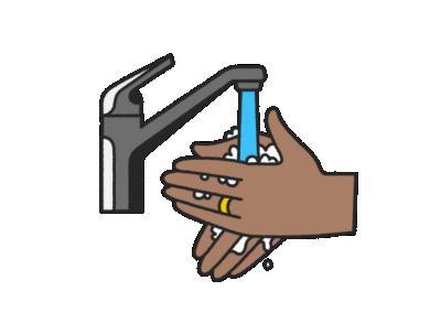 Regular handwashing for office associates