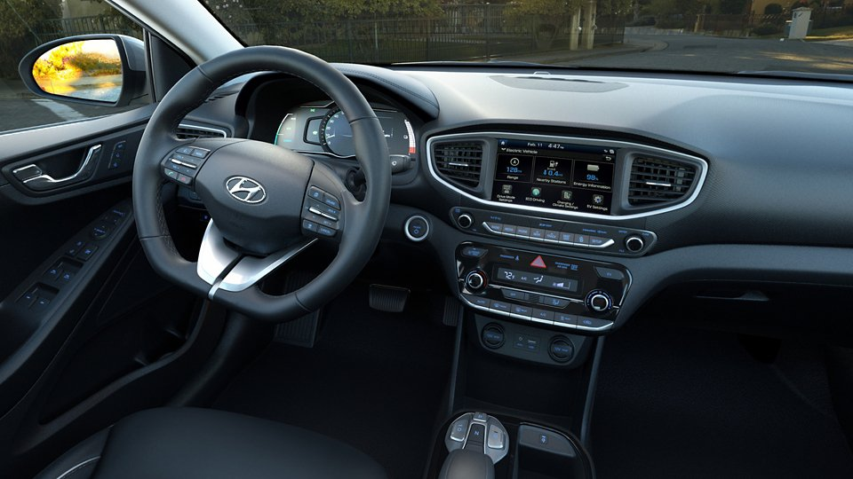 360 Interior Image of the 2019 IONIQ Electric Limited in Black