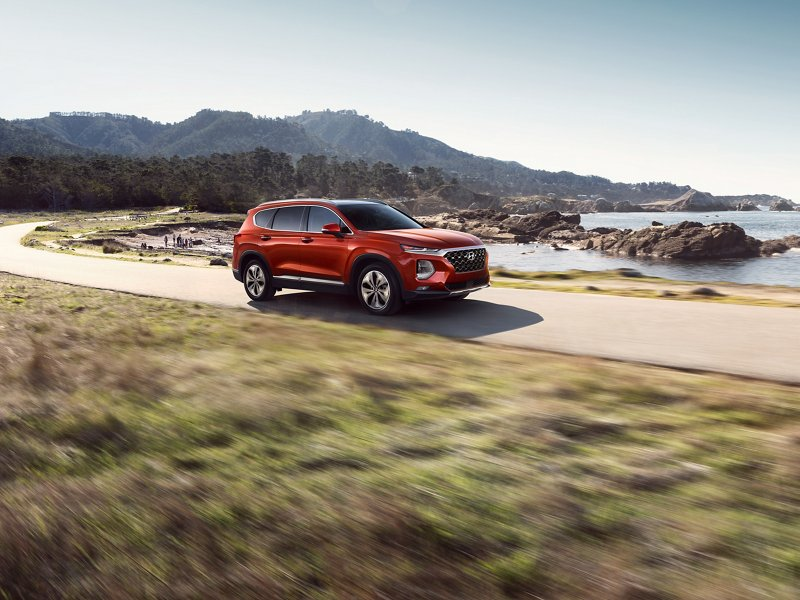 2020 Hyundai Santa Fe Limited 2.0T in Lava Orange