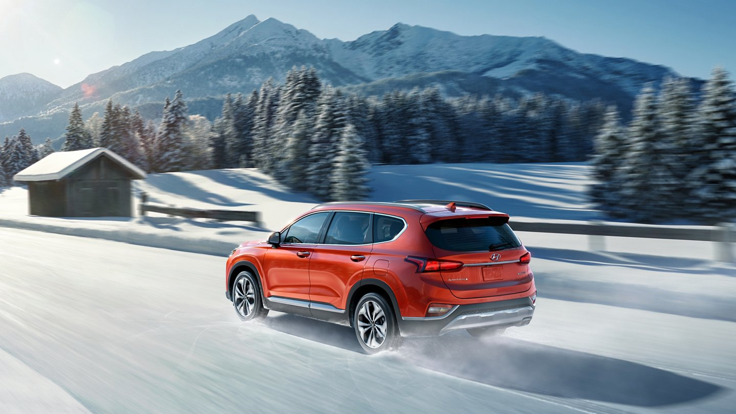 2020 Hyundai Santa Fe Limited in Snow