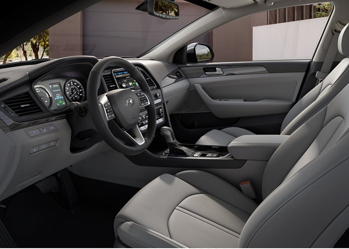 2019 Hyundai Sonata Plug-in Hybrid Limited Grey leather interior
