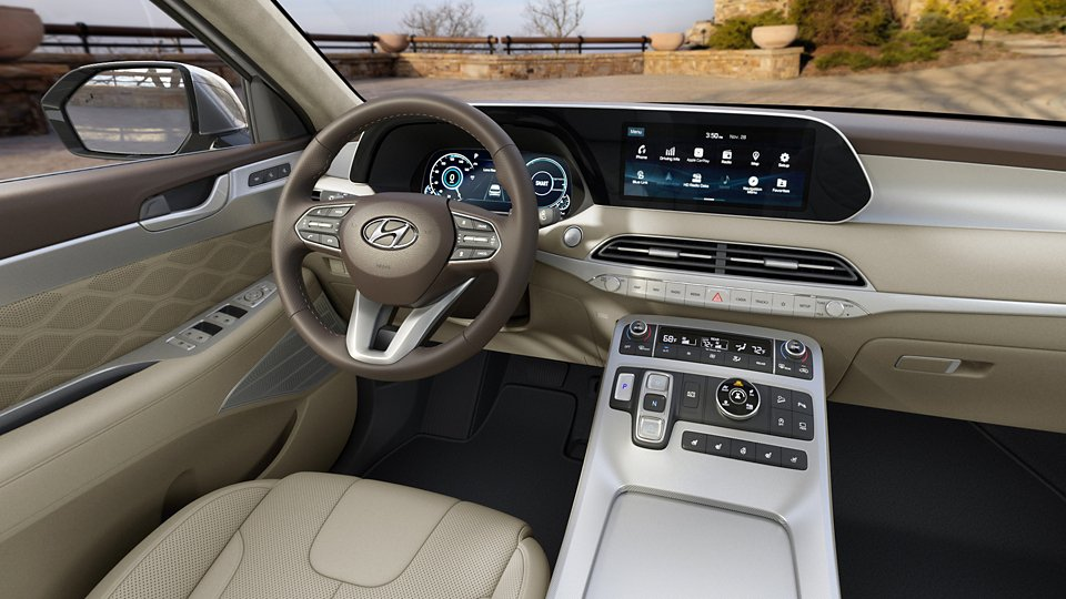 360 Interior Image of the 2020 PALISADE in Beige Nappa Leather