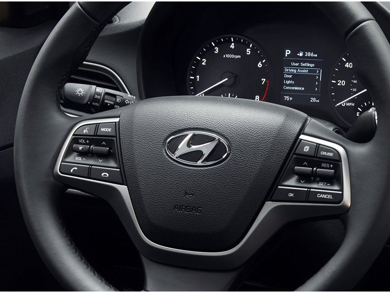 2020 Hyundai Accent SEL Steering Wheel