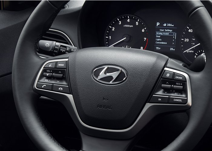 2020 Hyundai Accent Limited Steering Wheel
