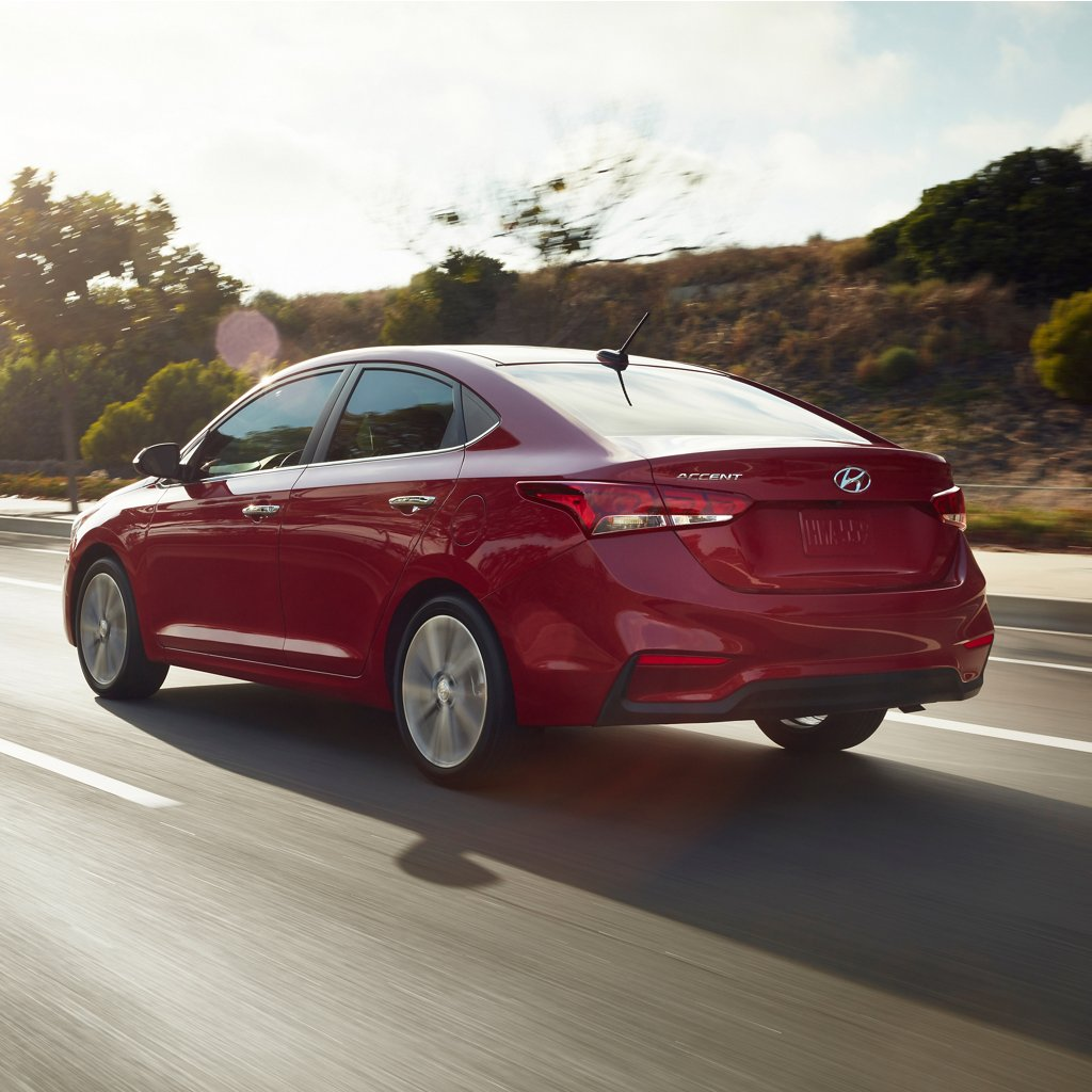 2020 Hyundai Accent rear view