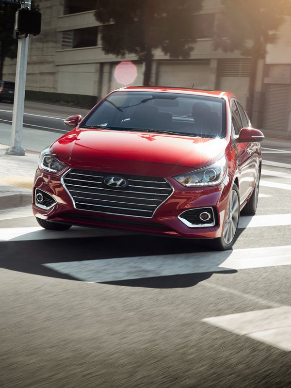 Vista frontal del Hyundai Accent 2020
