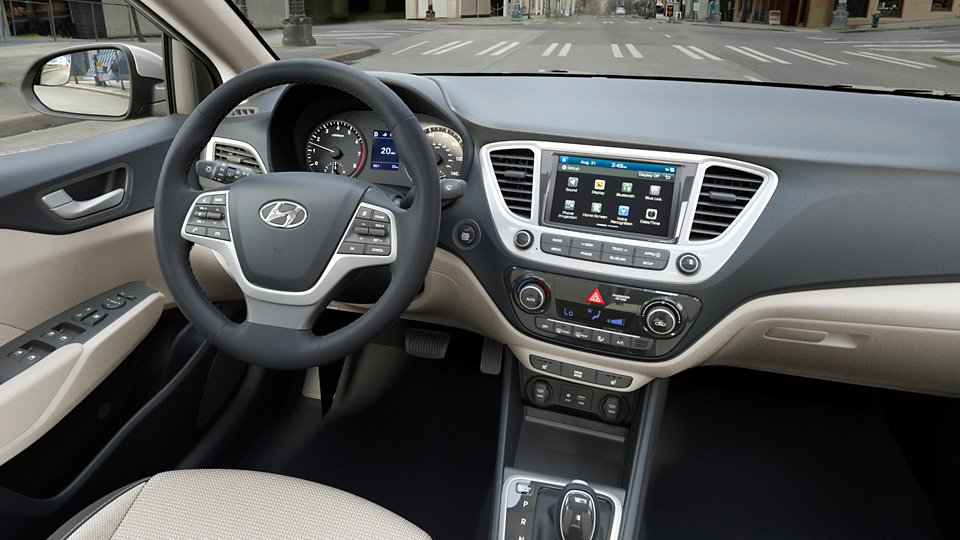 360 Interior Image of the 2020 ACCENT in Beige