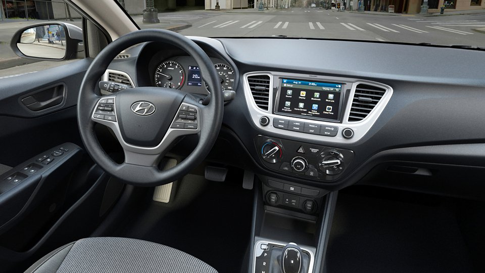360 Interior Image of the 2020 ACCENT SEL in Black