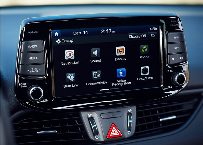 2020 Hyundai Elantra GT Touchscreen audio display
