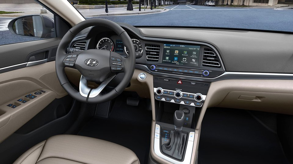 360 Interior Image of the 2020 ELANTRA in Beige