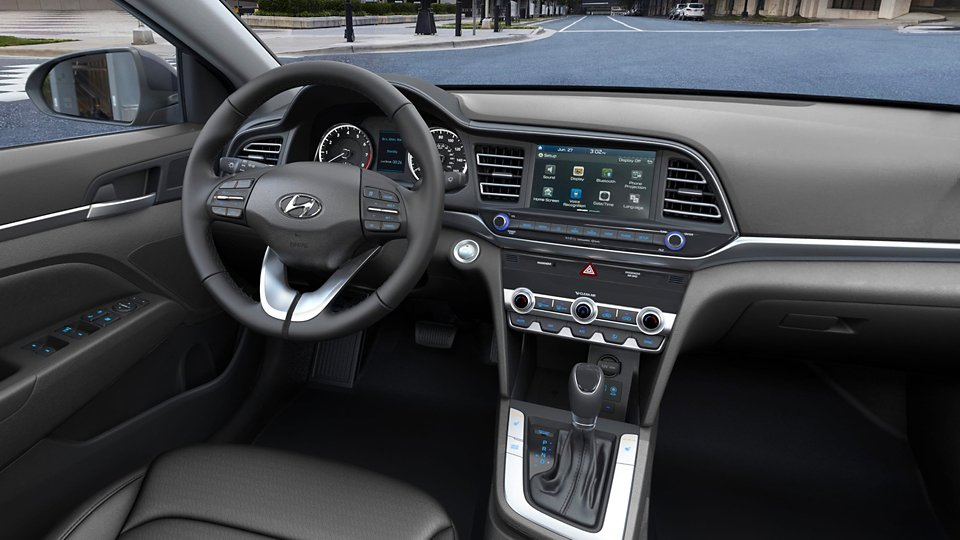 360 Interior Image of the 2020 ELANTRA in Black