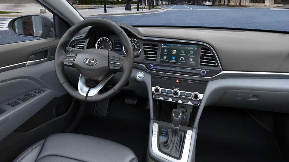 360 Interior Image of the 2020 ELANTRA Limited in Gray