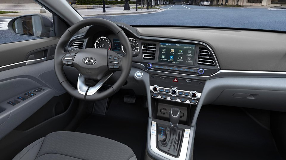 360 Interior Image of the 2020 ELANTRA Value Edition in Gray