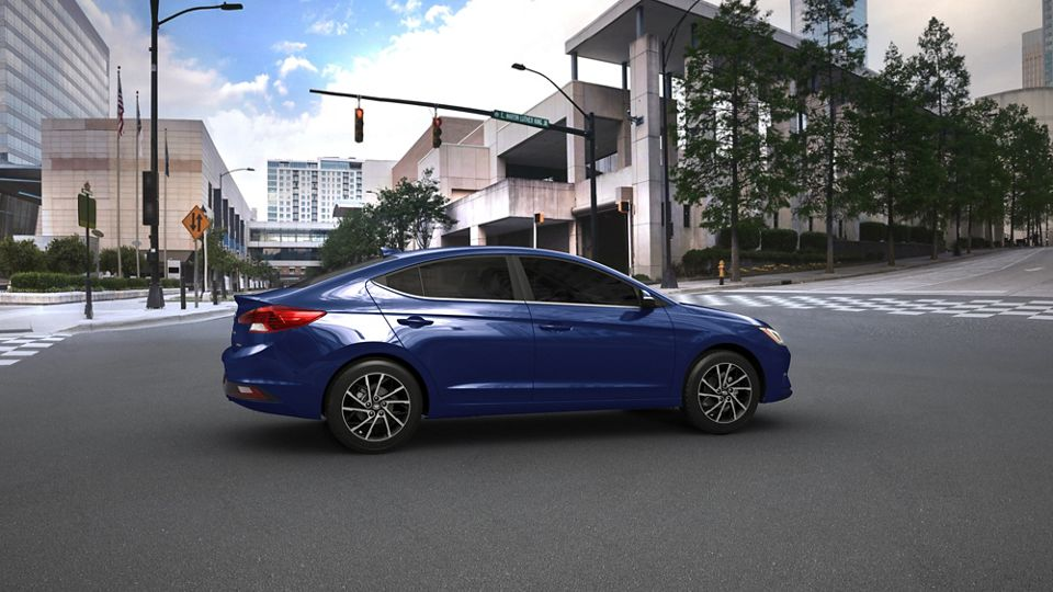 360 Exterior Image of the 2020 ELANTRA in Blue