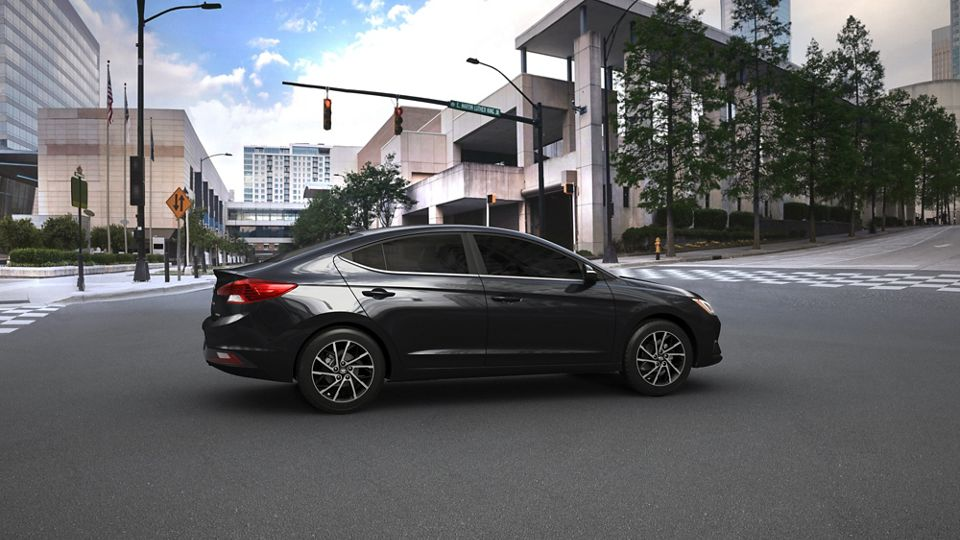 360 Exterior Image of the 2020 ELANTRA in Black