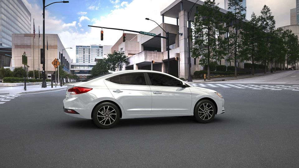 360 Exterior Image of the 2020 ELANTRA in White