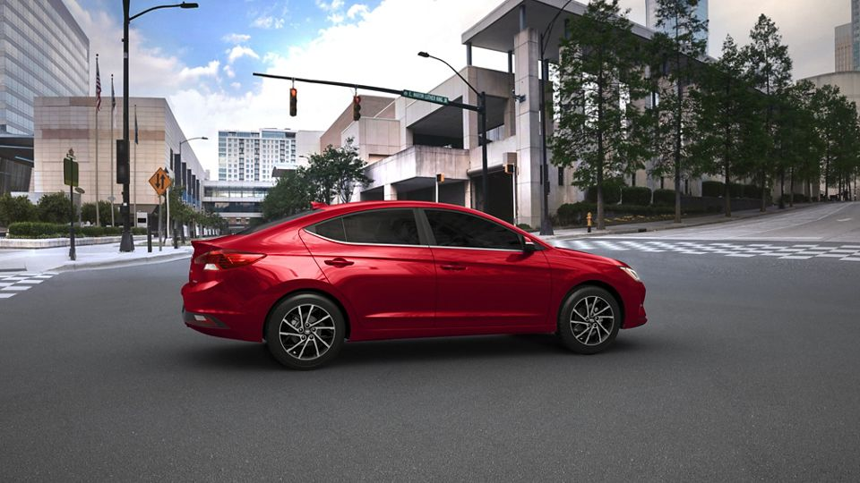 360 Exterior Image of the 2020 ELANTRA in Red
