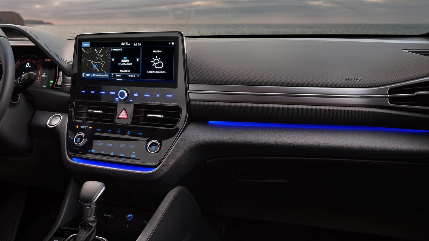 2020 Hyundai Ioniq Hybrid Limited Ambient Interior Lighting