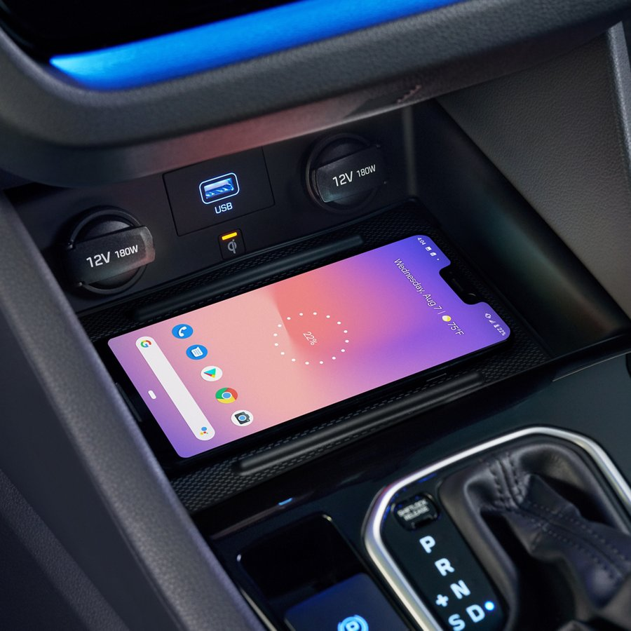 wireless charging phone display