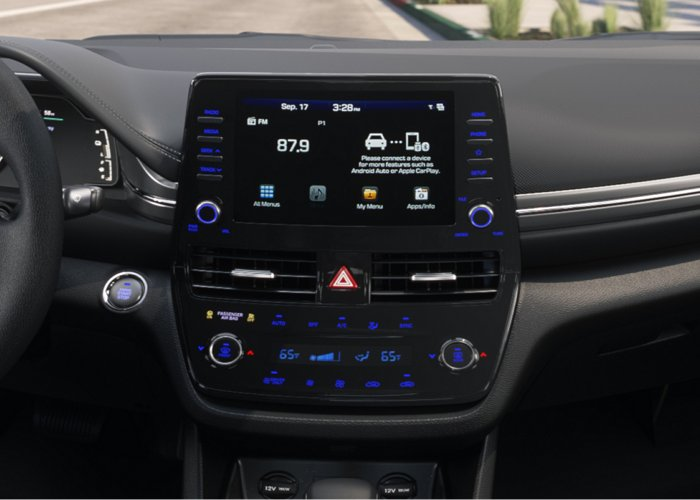 2020 Hyundai Ioniq Hybrid Blue Touchscreen audio display