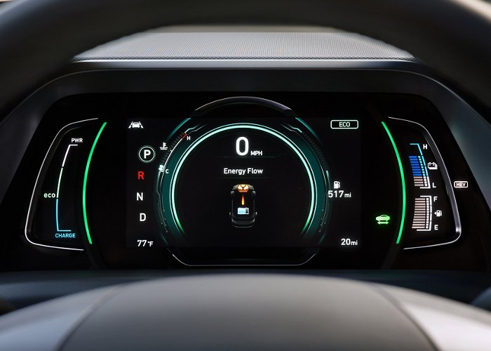 Hyundai USA | Ioniq Plug-In Hybrid Available LCD Instrument Cluster