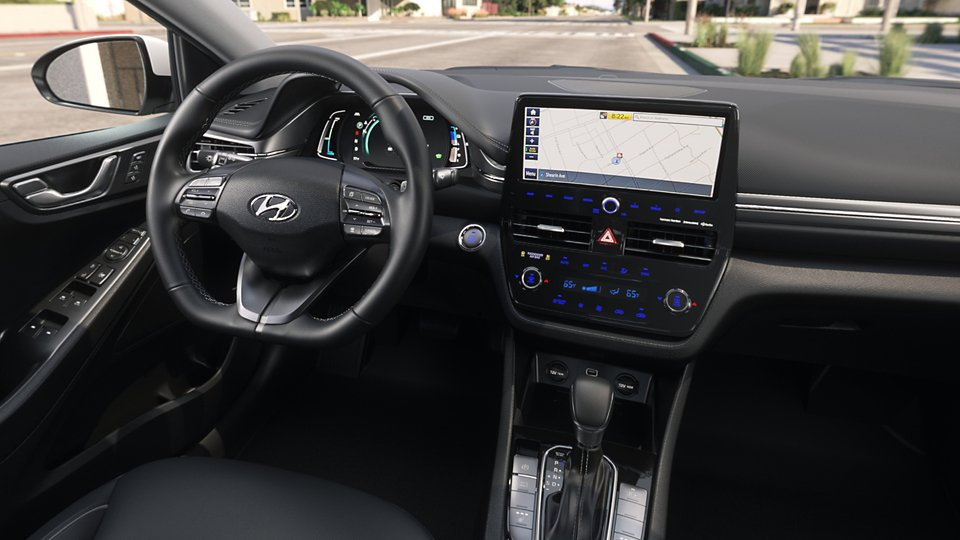360 Interior Image of the 2020 IONIQ Hybrid Limited in Black