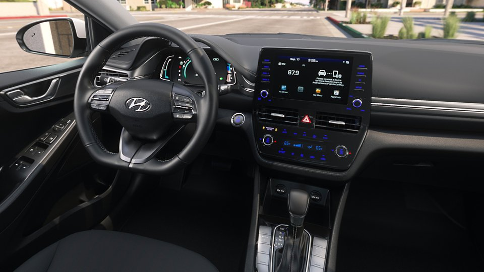360 Interior Image of the 2020 IONIQ Hybrid SE in Black