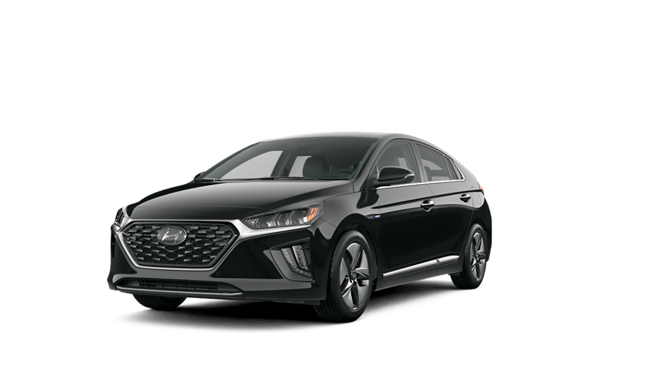 360 Exterior Image of the 2020 IONIQ Hybrid Limited in Black Noir Pearl
