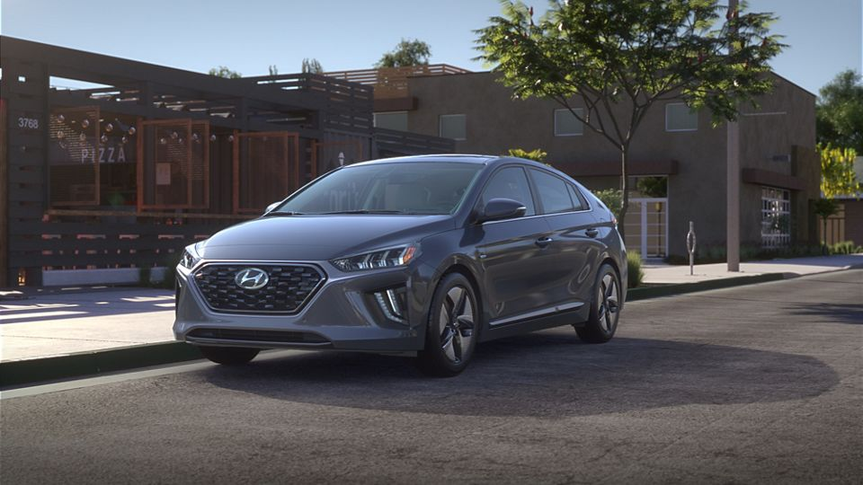 360 Exterior Image of the 2020 IONIQ Hybrid in Summit Gray