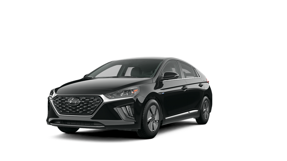 360 Exterior Image of the 2020 IONIQ Hybrid SE in Black Noir Pearl