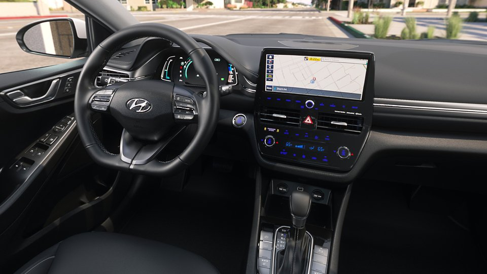 360 Interior Image of the 2020 IONIQ Plug-in Hybrid Limited in Black