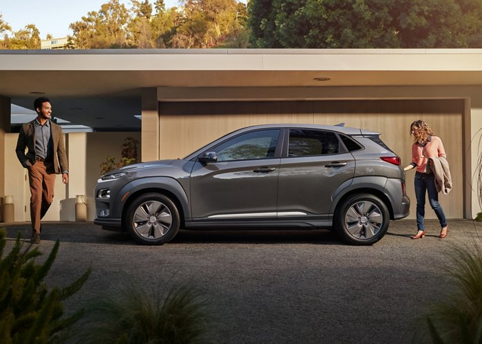 2020 Hyundai Kona Electric in gray