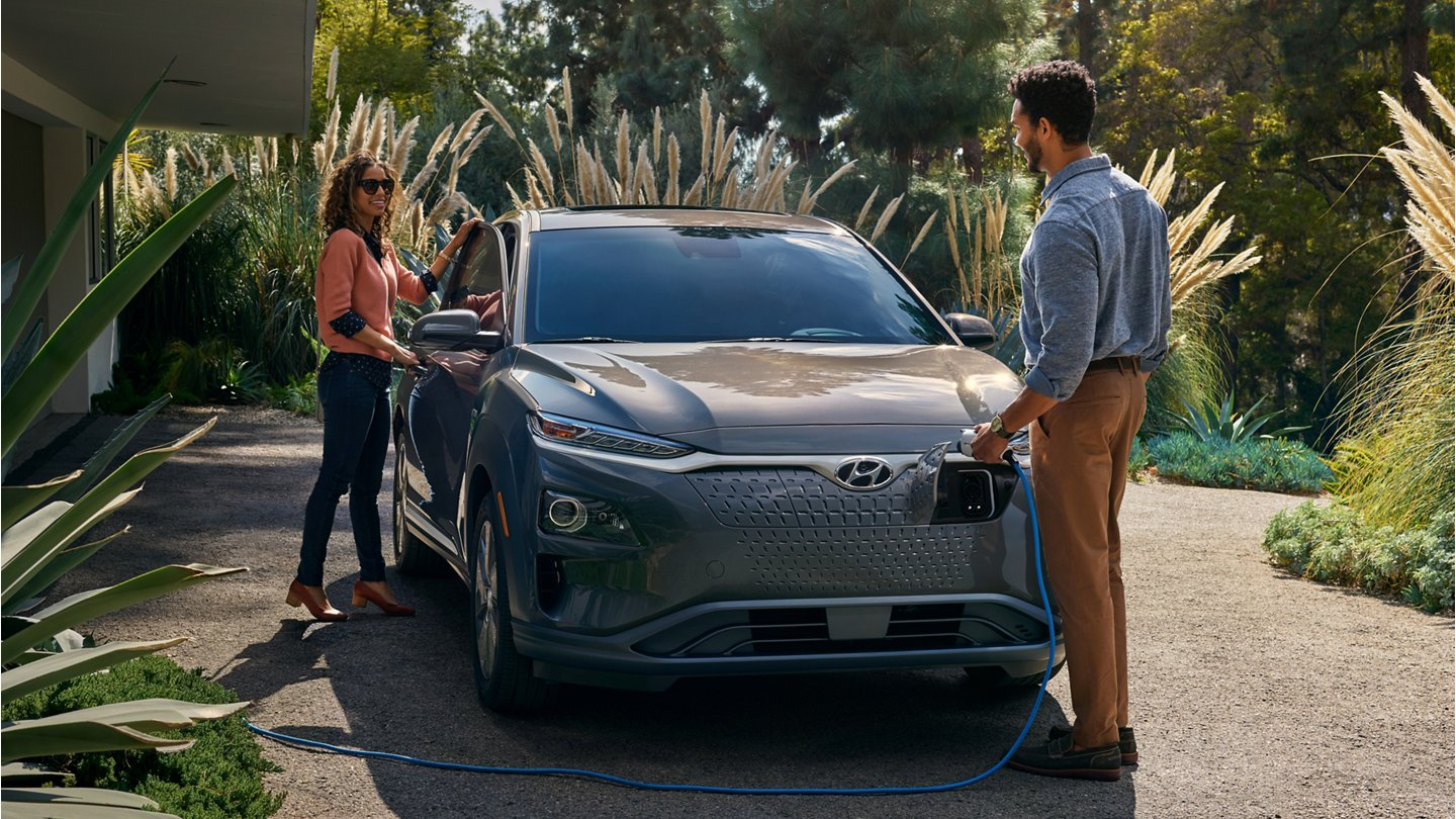 2020 Hyundai Kona Electric being charged