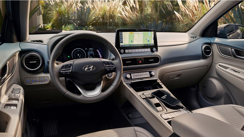 Interior del Hyundai Kona Electric 2020