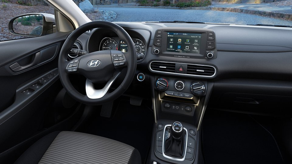 360 Interior Image of the 2020 KONA SEL Plus in Black