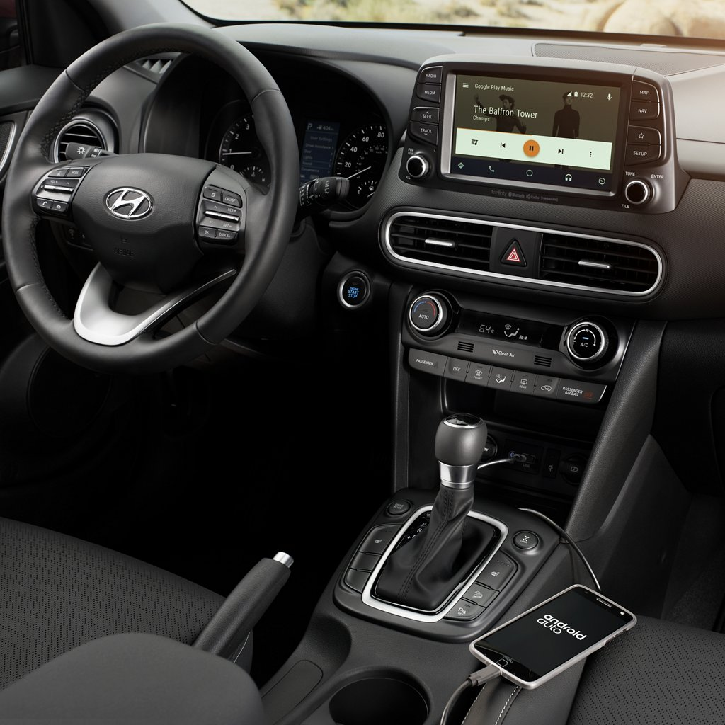 2020 Kona SEL Plus android auto and apple carplay