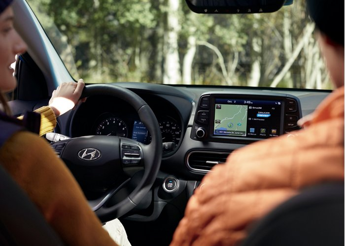 2020 Kona 8-inch color touchscreen navigation