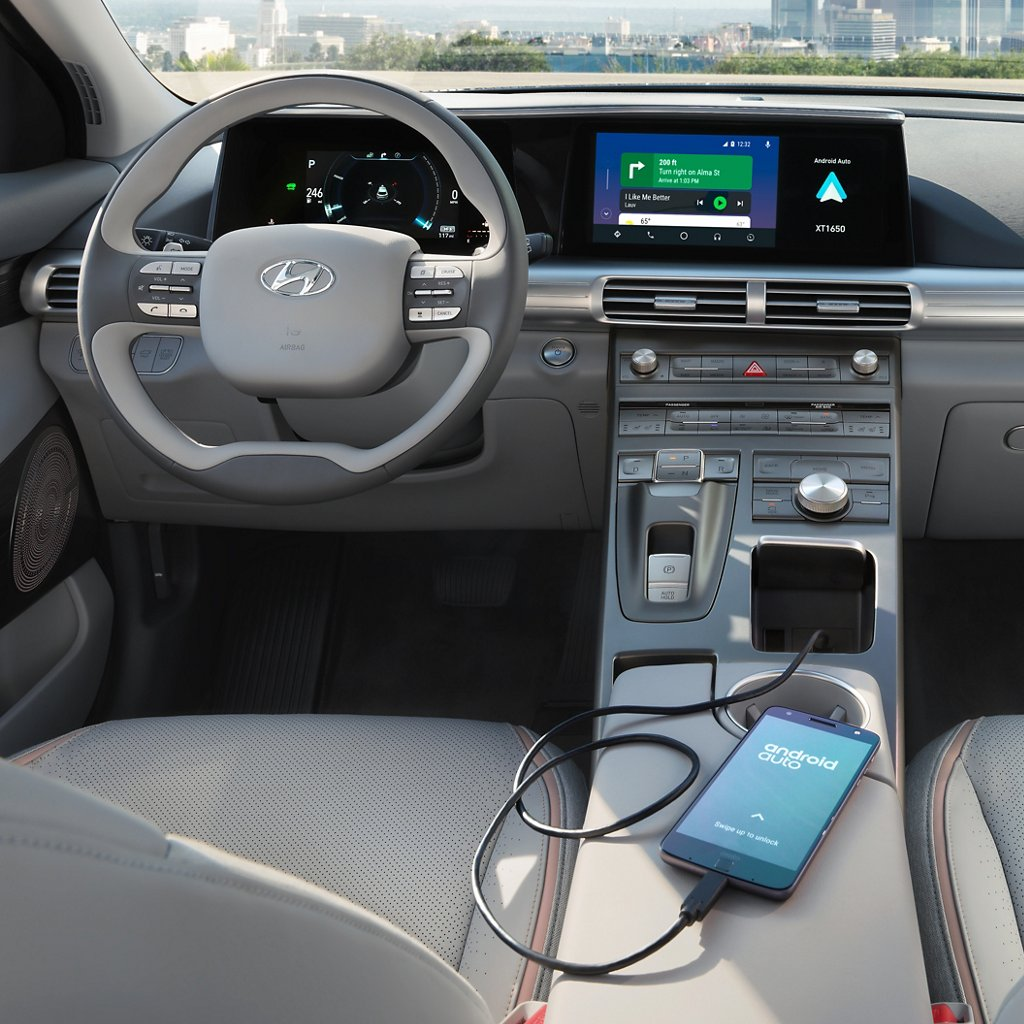2020 Nexo Fuel Cell Blue Android Auto and Apple Carplay