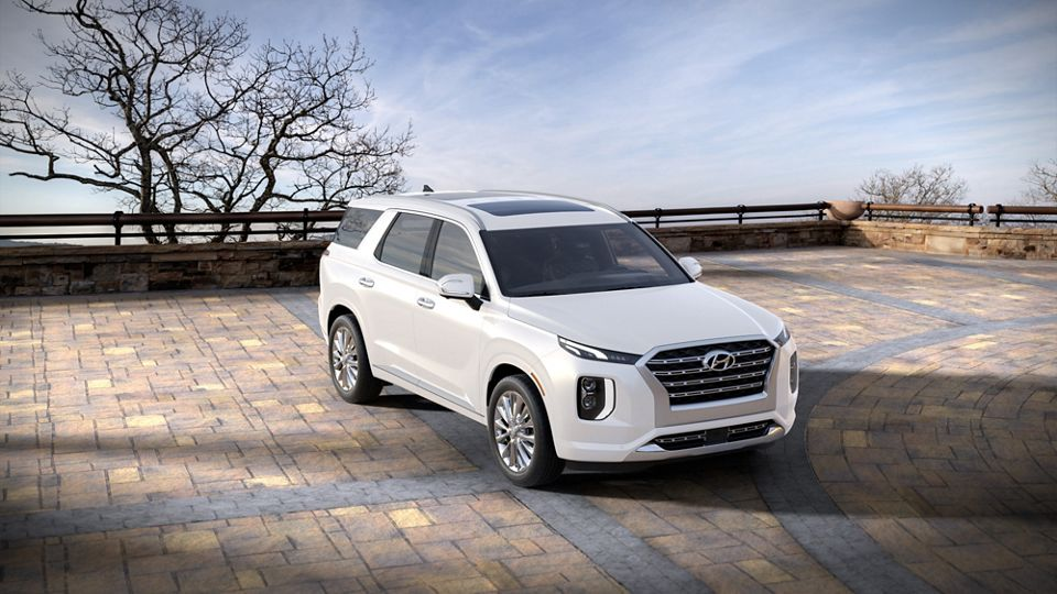 360 Exterior Image of the 2020 PALISADE in Hyper White