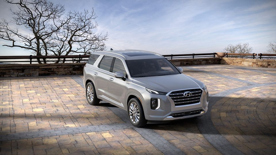 360 Exterior Image of the 2020 PALISADE in Lagoon Silver