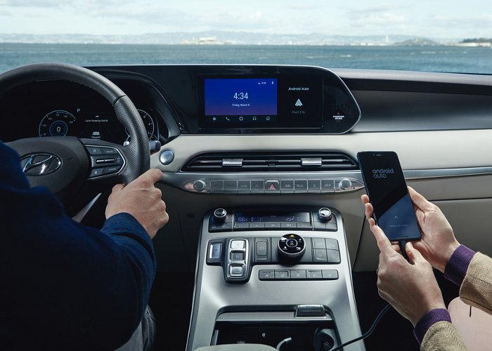 Android Auto y Apple CarPlay del Hyundai Palisade Limited 2020